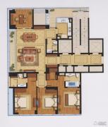 绿城宁波中心�m轩4室2厅3卫0平方米户型图