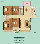 阳光福园4室2厅2卫166平方米户型图