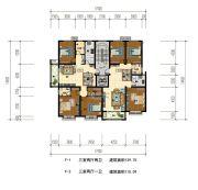华信・越绣公园3室2厅2卫0平方米户型图