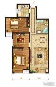 瀛海19城3室2厅1卫103平方米户型图