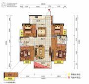 中惠松湖城4室2厅2卫120平方米户型图