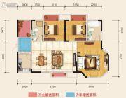 朗润国际广场3室2厅2卫110平方米户型图