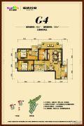 俊发盛唐城3室2厅2卫86--105平方米户型图