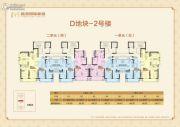 鑫苑国际新城3室2厅1卫88--126平方米户型图