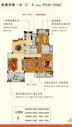 圣园3室2厅2卫124--131平方米户型图