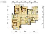 长虹和悦府3室2厅2卫87--89平方米户型图