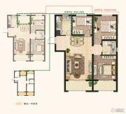 东亚御景湾2室2厅1卫89平方米户型图