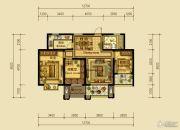 翰林世家3室2厅1卫93平方米户型图