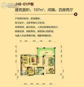 碧桂园・翡翠山4室2厅2卫197平方米户型图
