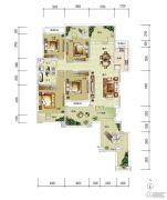 华润中央公园4室2厅2卫168平方米户型图