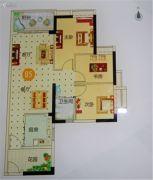 越秀滨海御城3室2厅1卫97平方米户型图