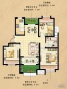 国基城邦逸境3室2厅1卫90平方米户型图