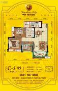 中科・阳光新城3室2厅1卫89--104平方米户型图