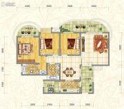 世俊国际3室2厅2卫118平方米户型图