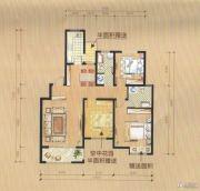 尚城华府3室2厅2卫106平方米户型图