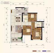 广佛颐景园3室2厅2卫92平方米户型图