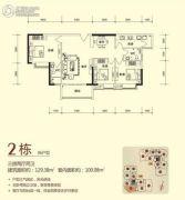 东岸美景3室2厅2卫120--130平方米户型图