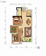 德杰・德裕天下3室2厅1卫101平方米户型图