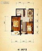盛世温泉嘉苑0室0厅0卫69平方米户型图