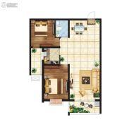 江南鸿郡2室2厅1卫91平方米户型图