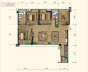 永立星城都4室2厅2卫129平方米户型图