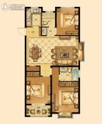中梁香缇公馆3室2厅2卫110平方米户型图