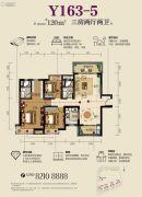 虎门碧桂园3室2厅2卫120平方米户型图