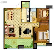 南通万达广场2室2厅1卫105平方米户型图