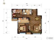 华润橡树湾2室2厅1卫75平方米户型图