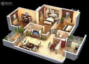 润弘铭城3室2厅2卫118平方米户型图