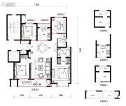 万科望庐花苑4室2厅2卫125平方米户型图