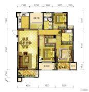 信达香格里4室2厅2卫139平方米户型图