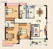 君悦商业广场3室2厅2卫127平方米户型图