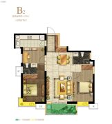 保利・心语花园3室2厅2卫103平方米户型图