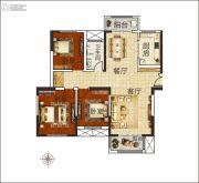 佳合如苑3室2厅1卫131平方米户型图