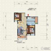 宜化新天地2室2厅2卫84平方米户型图