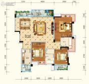 水润东都3室2厅2卫137平方米户型图