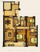 华鸿中央华府3室2厅2卫96平方米户型图