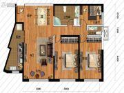 鹏博金城珑园3室2厅2卫103平方米户型图