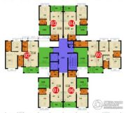 四季康城四期水岸城邦3室2厅1卫91平方米户型图