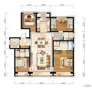 翡翠公园4室2厅3卫145平方米户型图