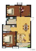 中建锦绣�m庭3室2厅1卫100平方米户型图
