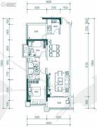中惠�h园3室2厅2卫96平方米户型图