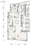 成都银泰中心华悦府3室2厅4卫284平方米户型图