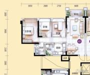 敏捷金月湾3室2厅1卫92平方米户型图