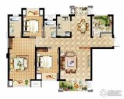 中建溪岸观邸3室2厅2卫143平方米户型图