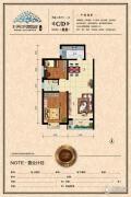 天水丽城2室2厅1卫89平方米户型图