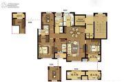 澜湖郡4室2厅2卫124平方米户型图