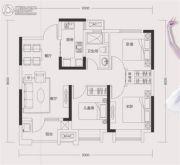 旭辉御府3室2厅1卫88平方米户型图