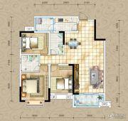 凤琴岚湾3室2厅2卫110平方米户型图